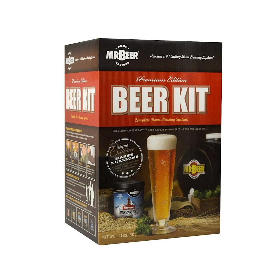 <p>This <span>Mr. Beer home microbrewery system</span> ($50) is perfect for the die-hard beer drinker. </p>