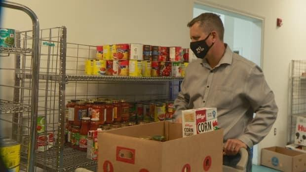 The new space has more room for clients and for volunteers, says Mike MacDonald. (Sheehan Desjardins/CBC - image credit)