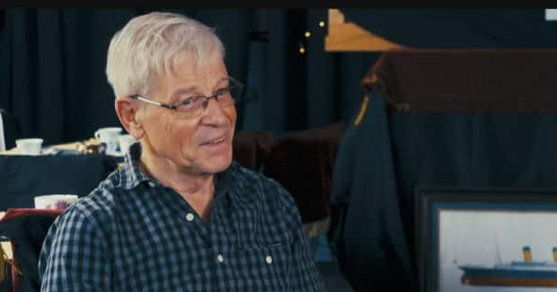 Famed folk musician Ray Johnson has spent 12 years patiently building a large model of the RMS Titanic.