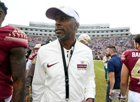 FILE PHOTO: Nov 24, 2018; Tallahassee, FL, USA; Florida State Seminoles head coach Willie Taggart after the game against the Florida Gators at Doak Campbell Stadium. Mandatory Credit: Melina Myers-USA TODAY Sports - 11724891