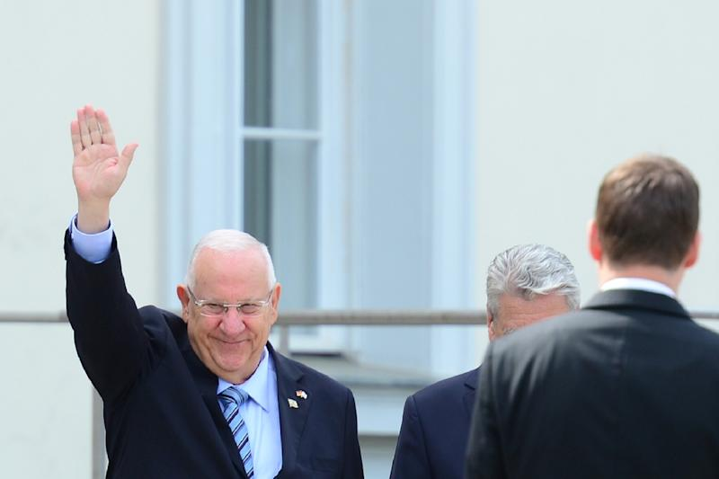Israeli President Reuven Rivlin, seen in Berlin on May 11, 2015, appeared to challenge a longstanding taboo on talks with the militant Islamic Hamas, saying he favoured dialogue with everybody