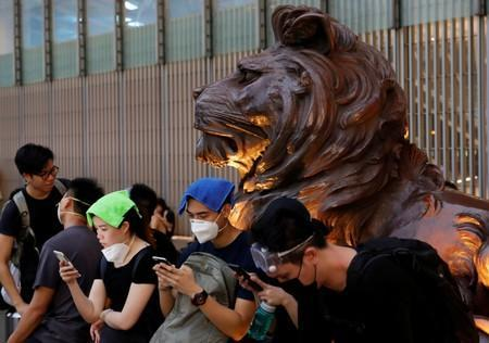FILE PHOTO: Protest to demand authorities scrap a proposed extradition bill with China, in Hong Kong