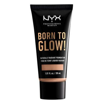 """<p>This <a href=""""https://www.popsugar.com/buy/NYX-Born-Glow-Naturally-Radiant-Foundation-479558?p_name=NYX%20Born%20To%20Glow%21%20Naturally%20Radiant%20Foundation&retailer=nyxcosmetics.com&pid=479558&price=10&evar1=bella%3Aus&evar9=46496114&evar98=https%3A%2F%2Fwww.popsugar.com%2Fbeauty%2Fphoto-gallery%2F46496114%2Fimage%2F46496127%2FNYX-Born-Glow-Naturally-Radiant-Foundation&list1=shopping%2Cmakeup%2Cdrugstore%2Cdrugstore%20beauty%2Cnyx%20cosmetics&prop13=mobile&pdata=1"""" rel=""""nofollow"""" data-shoppable-link=""""1"""" target=""""_blank"""" class=""""ga-track"""" data-ga-category=""""Related"""" data-ga-label=""""https://www.nyxcosmetics.com/born-to-glow-naturally-radiant-foundation/NYX_749.html?cgid=whats-new"""" data-ga-action=""""In-Line Links"""">NYX Born To Glow! Naturally Radiant Foundation</a> ($10) has medium coverage and comes in 45 shades.</p>"""
