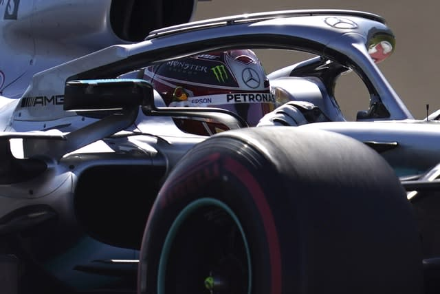 Lewis Hamilton was frustrated with his team's tyre strategy (Toru Hanai/AP)
