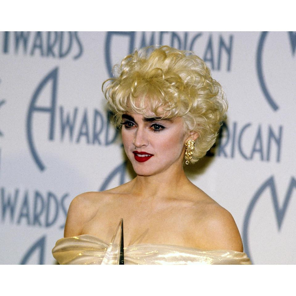True, Madge's brows at the 1987 American Music Awards aren't entirely real. But the glued on pieces inspired a turn to a thicker and more robust aesthetic.
