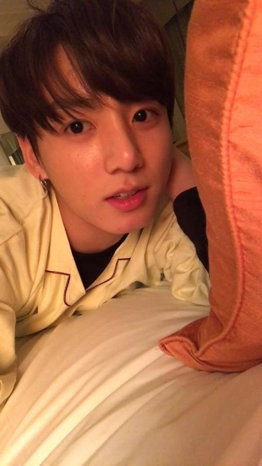 """<p>Barefaced <a href=""""https://www.seventeen.com/celebrity/music/a27547008/jungkook-net-worth/"""" target=""""_blank"""">Jungkook</a> is just as handsome as made-up Jungkook. And the BTS ARMY loves to see their fave looking so cute as he gets ready for bed.</p>"""