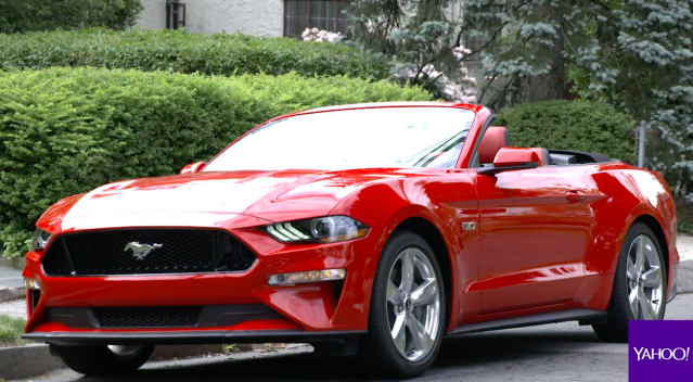 The 2018 Ford Mustang GT convertible. Source: Yahoo Finance