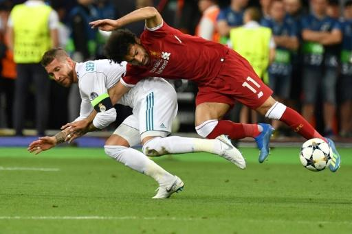 Real Madrid's Sergio Ramos tweeted wishing Liverpool's Mohamed Salah a rapid recovery after the Egyptian was injured when the two tangled in the Champions League