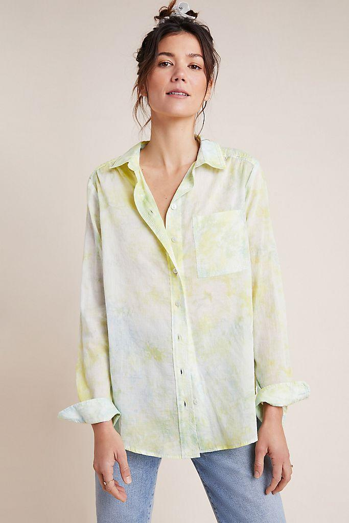 The Cate Classic Tie-Dye Buttondown. Image via Anthropologie.