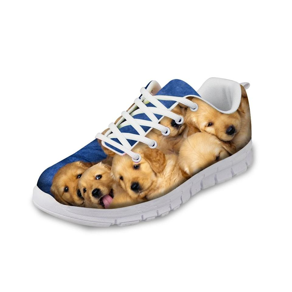 "<p>Your workout will be much more fun wearing these <a href=""https://www.popsugar.com/buy/Hugs-Idea-Cute-Pet-Dog-Running-Shoes-483342?p_name=Hugs%20Idea%20Cute%20Pet%20Dog%20Running%20Shoes&retailer=amazon.com&pid=483342&price=37&evar1=savvy%3Auk&evar9=46530345&evar98=https%3A%2F%2Fwww.popsugar.com%2Fsmart-living%2Fphoto-gallery%2F46530345%2Fimage%2F46530364%2FHugs-Idea-Cute-Pet-Dog-Running-Shoes&list1=shopping%2Cdogs%2Camazon%2Cgift%20guide%2Cgolden%20retrievers&prop13=api&pdata=1"" rel=""nofollow"" data-shoppable-link=""1"" target=""_blank"" class=""ga-track"" data-ga-category=""Related"" data-ga-label=""https://www.amazon.com/HUGS-IDEA-Retriever-Lightweight-Sneakers/dp/B01MYZCQXB/ref=sr_1_3?keywords=golden+retriever+shoes&amp;qid=1566491884&amp;s=gateway&amp;sr=8-3"" data-ga-action=""In-Line Links"">Hugs Idea Cute Pet Dog Running Shoes</a> ($37).</p>"