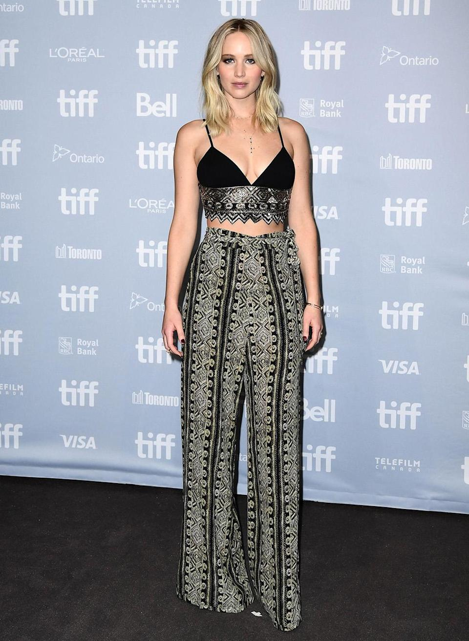 The actress wore Sally LaPointe to an earlier TIFF premiere. (Photo by Emma McIntyre/Getty Images for Paramount Pictures)
