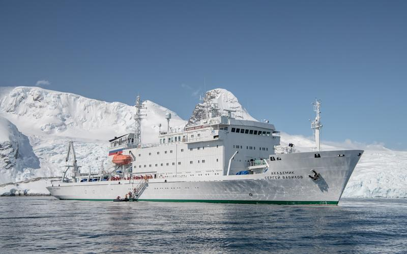 MV Akademik Sergey, one of the two ships seized by the Russian authorities - One Ocean Expeditions
