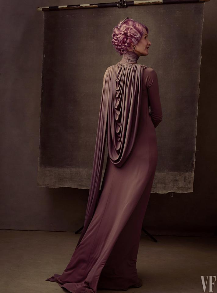 <p>Laura Dern, as Vice Admiral Amilyn Holdo, a newcomer to the saga. (Annie Liebovitz for Vanity Fair) </p>