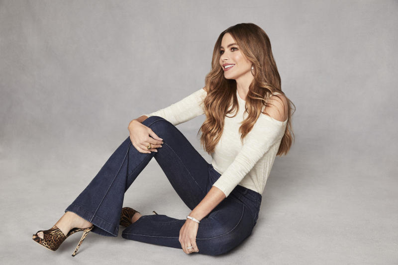 The actress just launched a fall collection of tops, jackets and of course, jeans, exclusively at Walmart.. (Photo: Walmart)