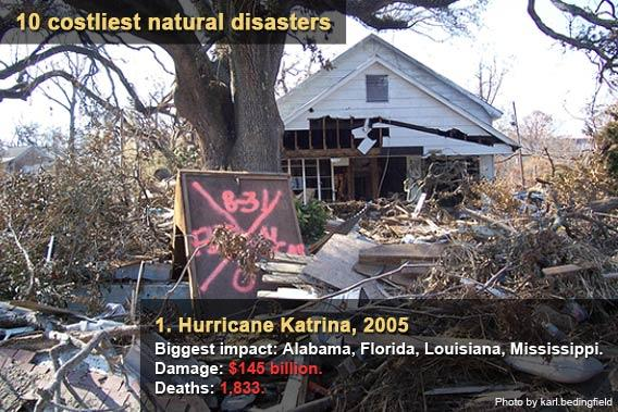 10 costliest natural disasters - Hurricane Katrina