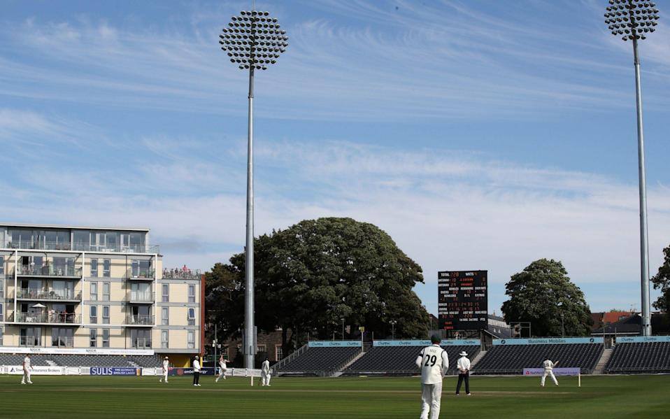 Match action between Gloucestershire and Worcestershire during day one of the Bob Willis Trophy match at Bristol County Ground - Four days travelling around the counties has shown that the Bob Willis Trophy is a great format - PA