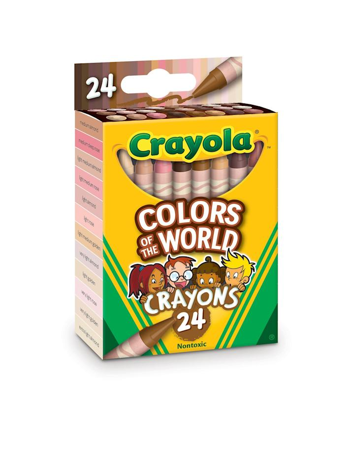 "Crayola ""Colors of the World"" 24-crayon box."