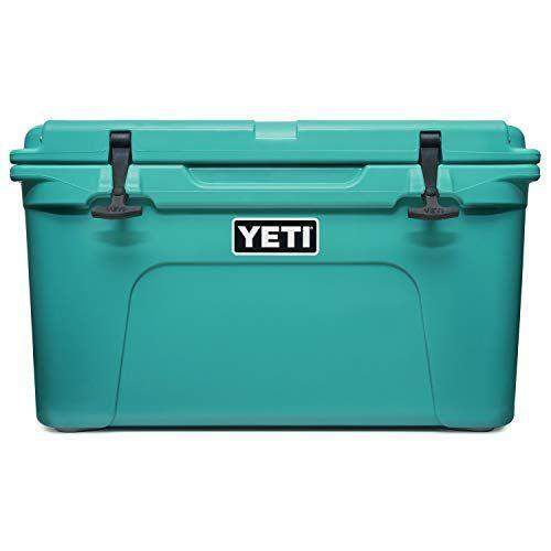 """<p><strong>YETI</strong></p><p>amazon.com</p><p><strong>$299.98</strong></p><p><a href=""""https://www.amazon.com/dp/B08VF6RPGC?tag=syn-yahoo-20&ascsubtag=%5Bartid%7C10050.g.36489241%5Bsrc%7Cyahoo-us"""" rel=""""nofollow noopener"""" target=""""_blank"""" data-ylk=""""slk:Shop Now!"""" class=""""link rapid-noclick-resp"""">Shop Now!</a></p><p>No one questions the durability of a Yeti. (You've already seen the famed <a href=""""https://www.youtube.com/watch?v=tgwejaTNZmI"""" rel=""""nofollow noopener"""" target=""""_blank"""" data-ylk=""""slk:Yeti vs. Grizzly Bear video"""" class=""""link rapid-noclick-resp"""">Yeti vs. Grizzly Bear video</a>, right?) The only thing holding most people back is the cost. If you'd like us to talk you into it, here's our case: At the lower end of the Yeti cost spectrum (see, you're so practical!), the Yeti Tundra 45 is a perfect everyday, use-forever cooler (read: it's basically a steal if you think about cost-per-use), and this seafoam-esque shade of Aquifer Blue will transport you to the Gulf Coast (which is cheaper than a vacation!)</p>"""