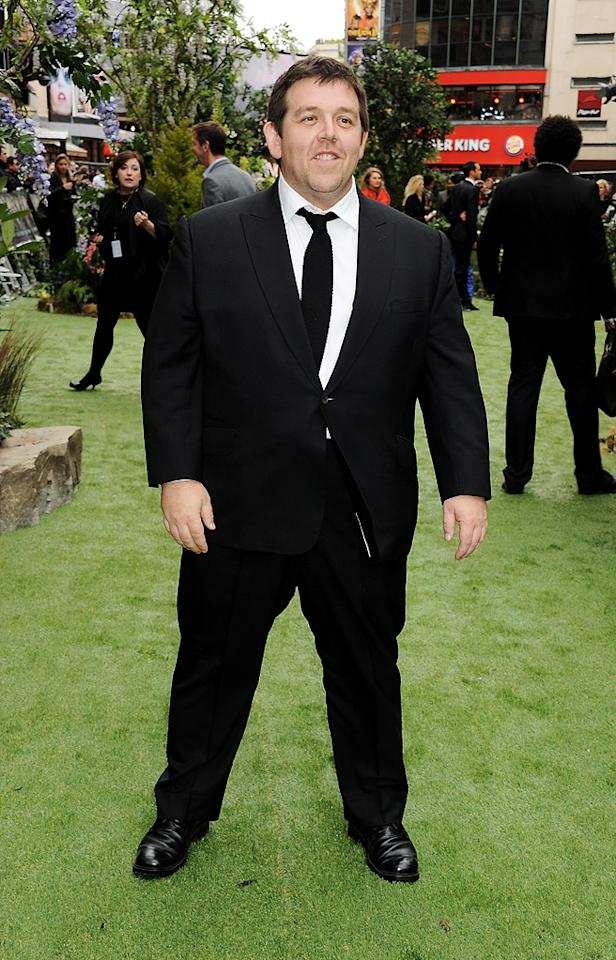 """Nick Frost attends the London premiere of """"Snow White and the Huntsman"""" on May 14, 2012."""