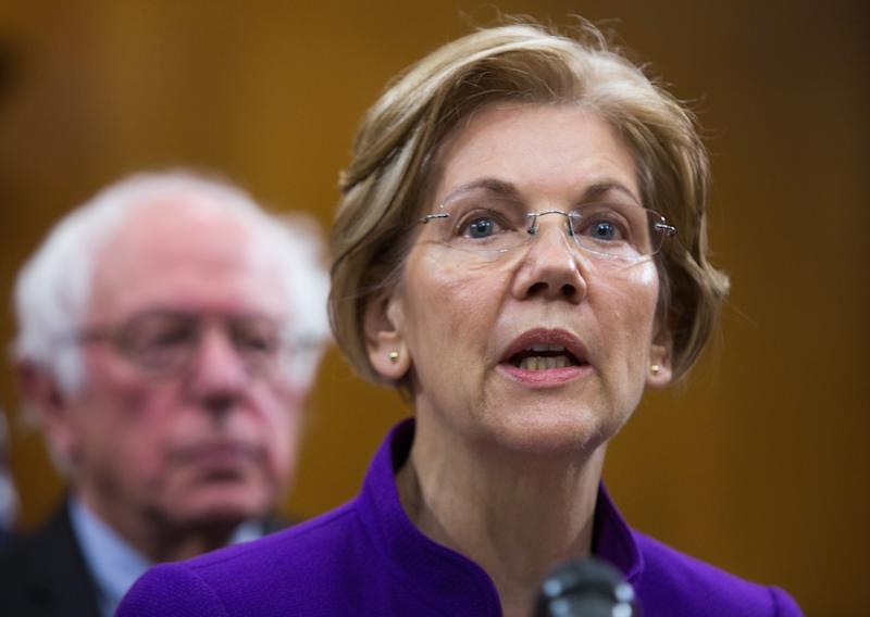Sens. Elizabeth Warren (D-Mass) and Bernie Sanders (I-Vt.) joined with Sen. Cory Booker in asking MSNBC's parent company to commit to an independent investigation of allegations of sexual misconduct. (Photo: Tasos Katopodis via Getty Images)
