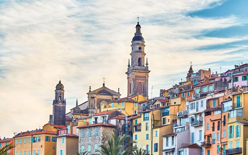 Wend your way through the Alps and wind up in Menton (pictured) - Credit: GETTY