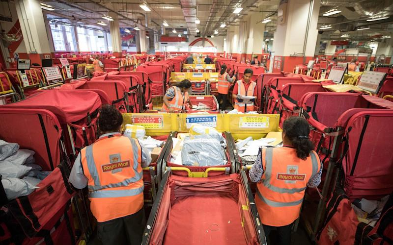 Royal Mail sorting office - Bloomberg