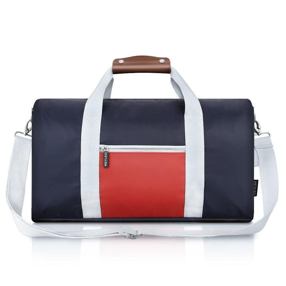 <p>This durable and stylish <span>Reyleo Gym Bag</span> ($16) is water-resistant and roomy. But the best part about it is that it can also double as a weekender bag.</p>