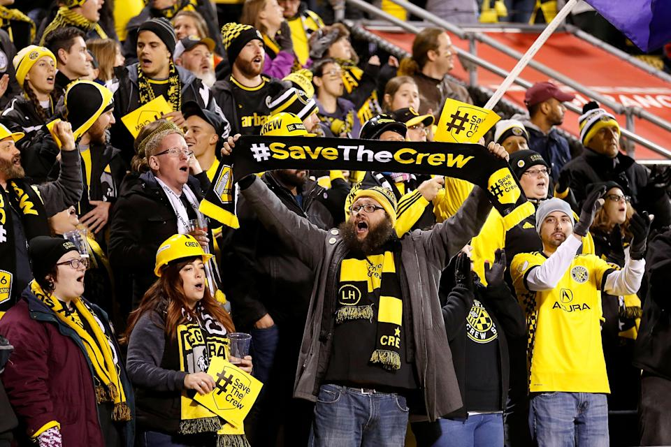 Columbus Crew FC is reportedly staying put in Ohio after nearly a year of uncertainty and a potential move to Austin, Texas, likely under a new ownership group. (Getty Images)