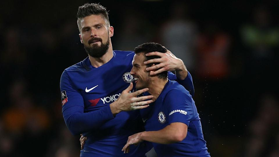 Giroud scored his first Chelsea goal in their FA Cup win against Hull City last week