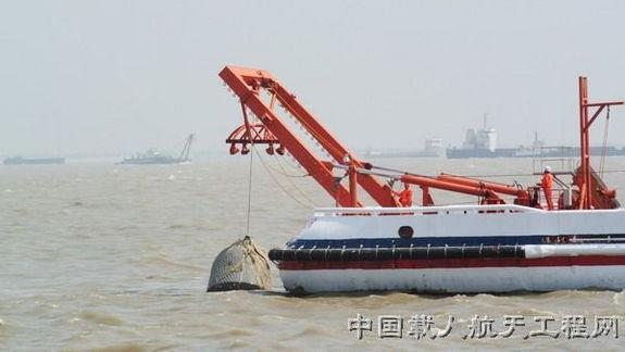 Recent test of Shenzhou capsule recovery in the event of a water landing.