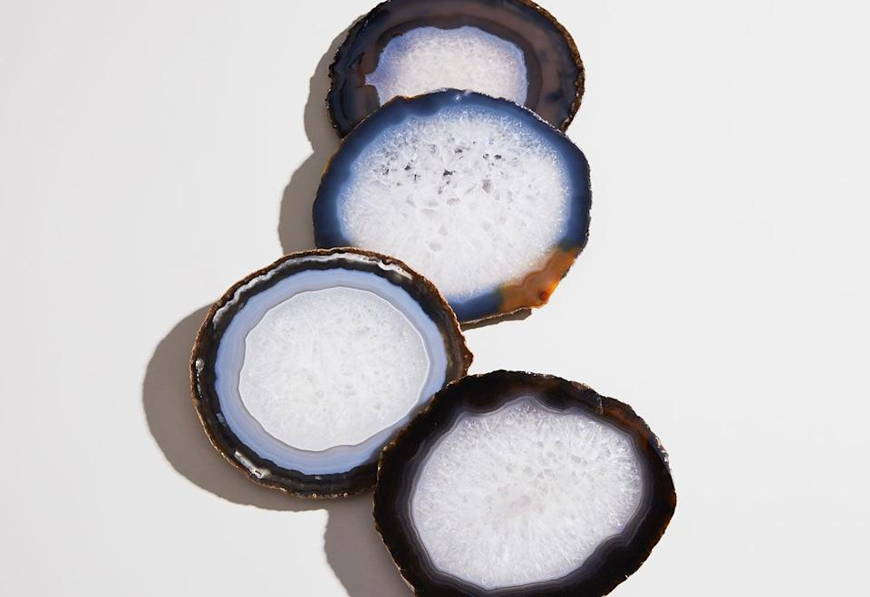 """<p><a href=""""https://www.popsugar.com/buy/ANNA-Pedra-Coasters-Natural-531154?p_name=ANNA%20Pedra%20Coasters%20in%20Natural&retailer=annanewyork.com&pid=531154&price=80&evar1=casa%3Aus&evar9=47010791&evar98=https%3A%2F%2Fwww.popsugar.com%2Fhome%2Fphoto-gallery%2F47010791%2Fimage%2F47010868%2FANNA-Pedra-Coasters-Set-4-in-Natural&list1=shopping%2Cgifts%2Cneiman%20marcus%2Choliday%2Cmust%20have%20box%2Cpast%20boxes&prop13=api&pdata=1"""" rel=""""nofollow noopener"""" class=""""link rapid-noclick-resp"""" target=""""_blank"""" data-ylk=""""slk:ANNA Pedra Coasters in Natural"""">ANNA Pedra Coasters in Natural</a> ($80, set of four)</p> <p>The classic design of this coaster set easily fits into any home decor style. These coasters are named after the Portuguese word for """"stone"""" and are created from pure, semiprecious agate. Each piece is hand-polished in Brazil and protected by rubber feet on the underside. Your coffee table is about to get a major upgrade.</p> <p><strong>Essentials We Also Love:</strong> <a href=""""https://www.popsugar.com/buy/H%C3%A9ritage-Tray-531167?p_name=H%C3%A9ritage%20Tray&retailer=annanewyork.com&pid=531167&price=595&evar1=casa%3Aus&evar9=47010791&evar98=https%3A%2F%2Fwww.popsugar.com%2Fhome%2Fphoto-gallery%2F47010791%2Fimage%2F47010868%2FANNA-Pedra-Coasters-Set-4-in-Natural&list1=shopping%2Cgifts%2Cneiman%20marcus%2Choliday%2Cmust%20have%20box%2Cpast%20boxes&prop13=api&pdata=1"""" rel=""""nofollow noopener"""" class=""""link rapid-noclick-resp"""" target=""""_blank"""" data-ylk=""""slk:Héritage Tray"""">Héritage Tray</a> ($595) and <a href=""""https://www.popsugar.com/buy/Cascita-Bowl-531168?p_name=Cascita%20Bowl&retailer=annanewyork.com&pid=531168&price=225&evar1=casa%3Aus&evar9=47010791&evar98=https%3A%2F%2Fwww.popsugar.com%2Fhome%2Fphoto-gallery%2F47010791%2Fimage%2F47010868%2FANNA-Pedra-Coasters-Set-4-in-Natural&list1=shopping%2Cgifts%2Cneiman%20marcus%2Choliday%2Cmust%20have%20box%2Cpast%20boxes&prop13=api&pdata=1"""" rel=""""nofollow noopener"""" class=""""link rapid-noclick-resp"""" target=""""_blank"""" data-ylk=""""slk:"""