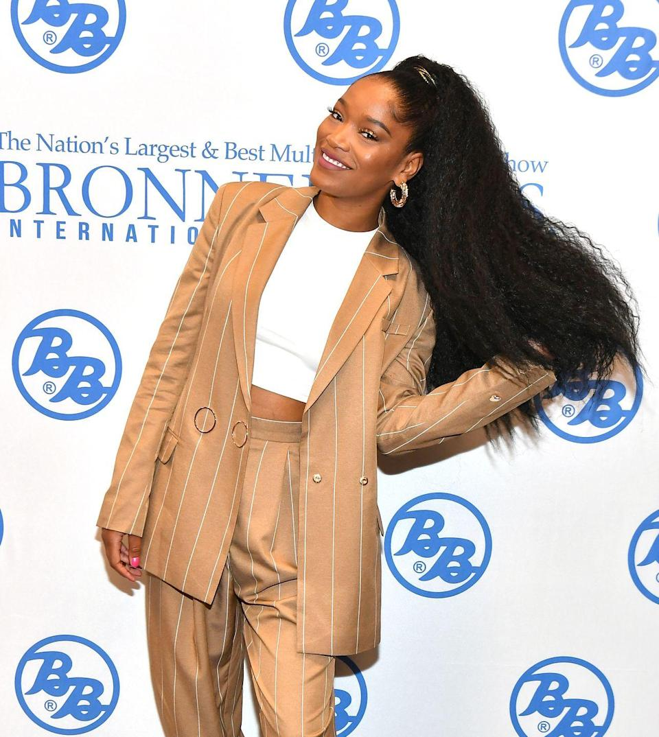 <p>A ponytail is always a good idea! Switch it up by adding texture and volume like actress <strong>Keke Palmer</strong>.</p>