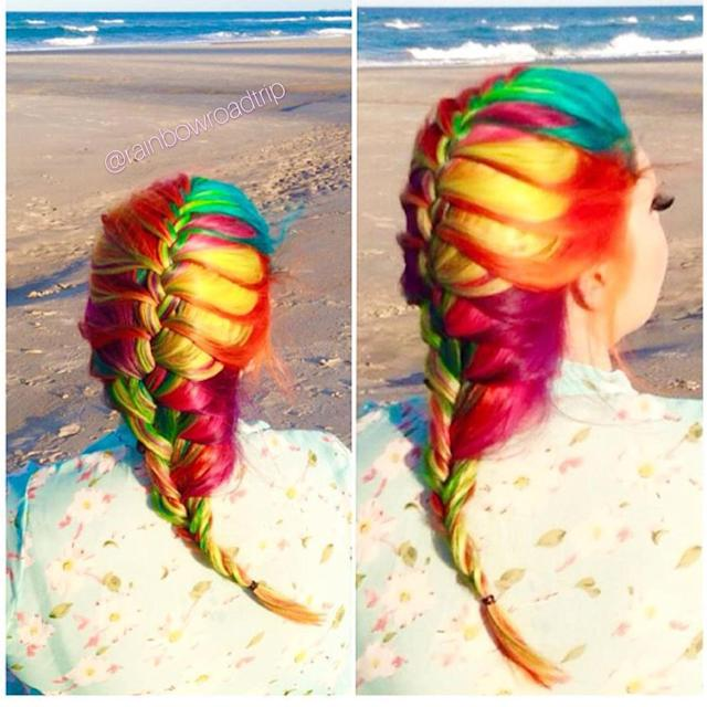 An example of the many styles of rainbow hair O'Halloran has done since. (Photo: Mykey O'Halloran)