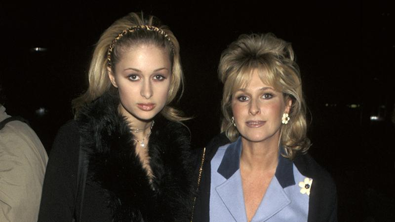Paris Hilton with mother Kathy Hilton in 1997 as a 17-year-old while attending reform school