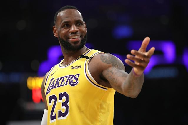 """LeBron James and the Lakers will open the NBA's restart against the Clippers on July 30. <span class=""""copyright"""">(Getty Images)</span>"""
