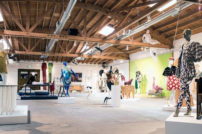 """At J.F. Chen's C Project space, the designers found inspiration at the exhibition """"Collision,"""" which juxtaposes a collection of avant-garde fashion with rare and iconic furniture. Curated by Bianca Chen, the show is open until May 24."""
