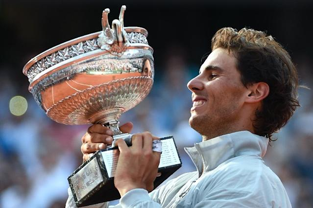 Spain's Rafael Nadal has won nine French Open titles (AFP Photo/Miguel Medina)