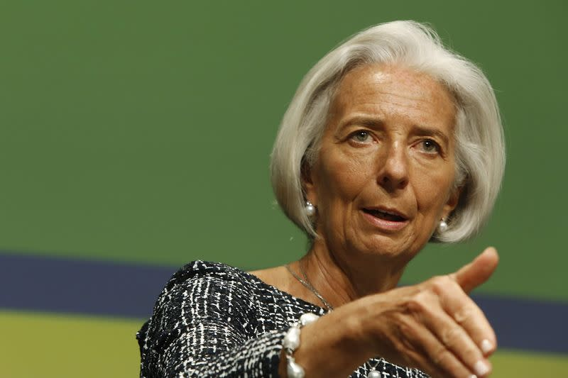 International Monetary Fund Managing Director Lagarde addresses the Bretton Woods Committee annual meeting in Washington