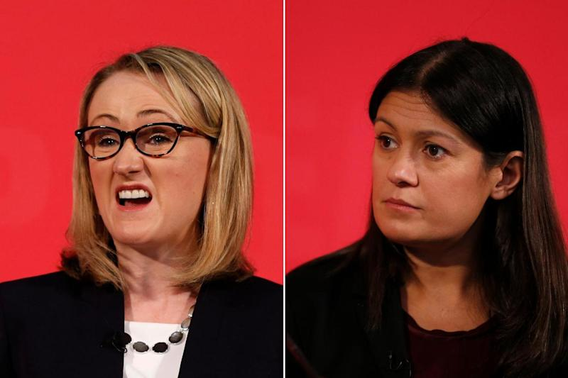 Rebecca Long-Bailey (left) and Lisa Nandy (right) are vying to replace Labour leader Jeremy Corbyn: PA