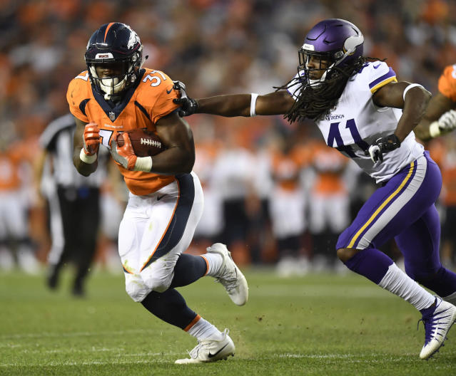 Denver Broncos running back Royce Freeman has looked the part this preseason. (AP Photo/Mark Reis)