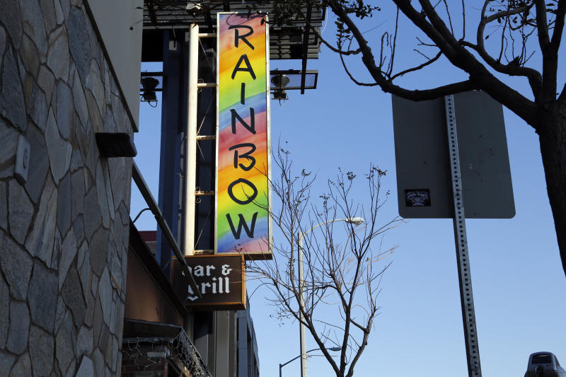 Hamilton and Rabuse met at the Rainbow on the Sunset Strip in LA, an iconic rock 'n' roll bar and restaurant. (Sara Terry/VII for HuffPost)
