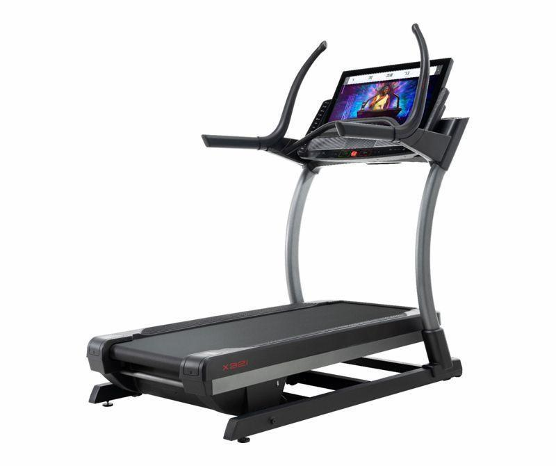 """<p><strong>NordicTrack</strong></p><p>bestbuy.com</p><p><strong>$3799.00</strong></p><p><a href=""""https://go.redirectingat.com?id=74968X1596630&url=https%3A%2F%2Fwww.bestbuy.com%2Fsite%2Fnordictrack-commercial-x32i-black%2F6397536.p%3FskuId%3D6397536&sref=https%3A%2F%2Fwww.redbookmag.com%2Flife%2Fg34807828%2Fblack-friday-treadmill-deals%2F"""" rel=""""nofollow noopener"""" target=""""_blank"""" data-ylk=""""slk:Shop Now"""" class=""""link rapid-noclick-resp"""">Shop Now</a></p><p>The X32i is a pretty decent step up from the standard treadmill at the gym, offering loads of preprogrammed workouts and a built-in Bluetooth speaker system. It bumps up the horsepower to 4.25, adds a high contrast Smart HD touchscreen display, widens and lengthens the tread belt to 22 x 65 inches, boosts the max speed to 12 mph, and can automatically adjust its incline up to a 40% grade. The best part? With the current Black Friday deal, you can make the switch to this high-tech model for $1,200 off the original price. Plus, you'll get on-board iFit coaching with an included one-year membership, and a frame warranty for the next decade.</p><p><em>Originally $4,999</em></p>"""