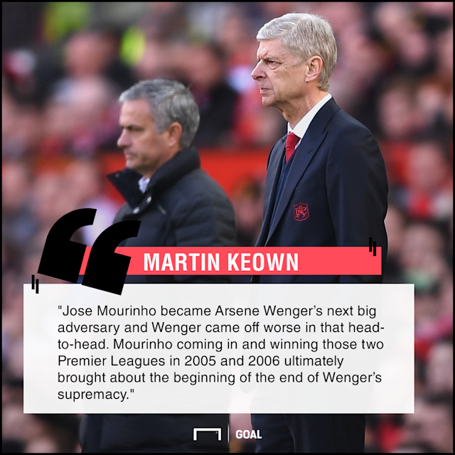 Chelsea's appointment of the now Manchester United boss in 2004 is considered to have been a turning point in the career of Arsenal's outgoing manager