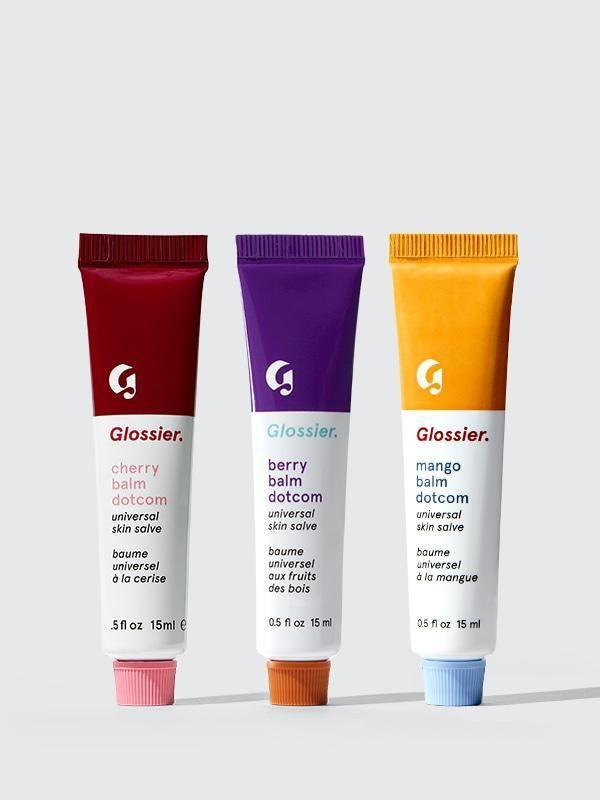 "<p><strong>Glossier</strong></p><p>glossier.com</p><p><a href=""https://go.redirectingat.com?id=74968X1596630&url=https%3A%2F%2Fwww.glossier.com%2Fproducts%2Fbalm-dotcom-trio&sref=https%3A%2F%2Fwww.marieclaire.com%2Fbeauty%2Fg34782241%2Fglossier-black-friday-sale-2020%2F"" rel=""nofollow noopener"" target=""_blank"" data-ylk=""slk:SHOP IT"" class=""link rapid-noclick-resp"">SHOP IT</a></p><p><strong><del>$30</del> $23 (25% off)</strong></p><p>Au revoir, chapped lips. Formulated with heavy duty moisturizers—castor oil, beeswax, and lanolin—Glossier's balm dot com product goes to <em>work</em> in locking in moisture. </p><p>For new Glossier shoppers, the brand lets customers pick three flavors of their choosing with this set. My favorites? <strong>Original</strong>, which is neither scented nor tinted and can be schmeared on top of dry hands and knuckles. <strong>Mint</strong>, which has a long-lasting matte-like finish. And <strong>Birthday</strong> for its scent and ever-so-subtle sparkle.<br></p>"