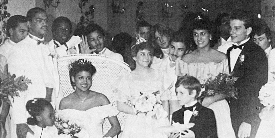 """<p>Halle Berry was the belle of the ball when she was named prom queen at Bedford High School near Cleveland, Ohio … until allegations arose that Berry and her friends had stuffed the ballot box and tampered with the results of this <i>very</i> important election. Years later, Berry told <i><a href=""""http://www.people.com/people/halle_berry/biography/"""" rel=""""nofollow noopener"""" target=""""_blank"""" data-ylk=""""slk:People"""" class=""""link rapid-noclick-resp"""">People</a></i> that the false claims deeply affected her. """"It took me a long time to get over it,"""" she later said of the 1984 incident. <i>(Photo: Seth Poppel/Yearbook Library)</i></p>"""