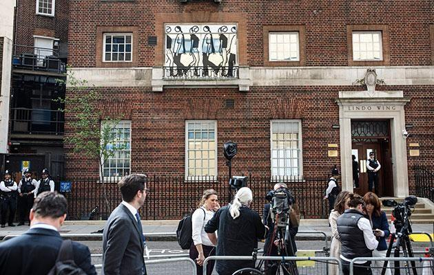 The world's media has been gathered outside St Mary's Hospital in London. Photo: Getty