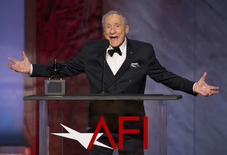 Producer Brooks speaks at the American Film Institute's 43rd Life Achievement Award at the Dolby theatre in Hollywood