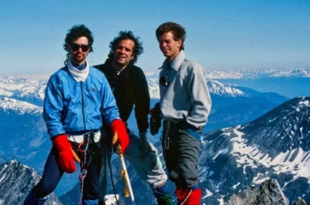Bill Chernoff climbing in the Himalayas in 1989 with friends.