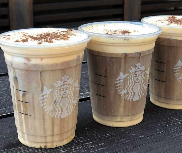 PHOTO: The Pumpkin Cream Cold Brew is the first new pumpkin-flavored coffee drink at Starbucks in 16 years. (Angeline Bernabe/ABC)