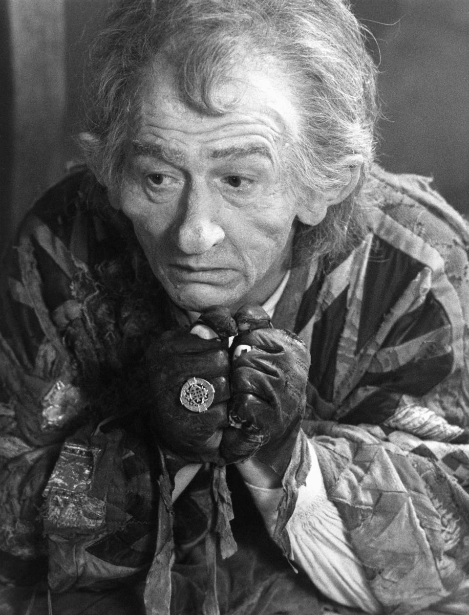 """British actor John Hurt reprises his role as the storyteller in an all-new chapter of the 1987 Emmy-winning NBC Family Special """"The Storyteller"""" Oct. 7, 1987. This edition, """"Fearnot,"""" is about a carefree young man whose total lack of fear drives him to seek out terrifying and dangerous creatures just to experience the emotion.  The drama will be telecast Monday, Oct. 26. (AP Photo)"""